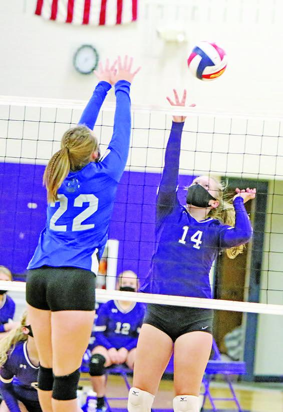 After a close first set, the Independence volleyball team scored two double-digit wins to open the season with a sweep of Blair-Taylor last week Tuesday.