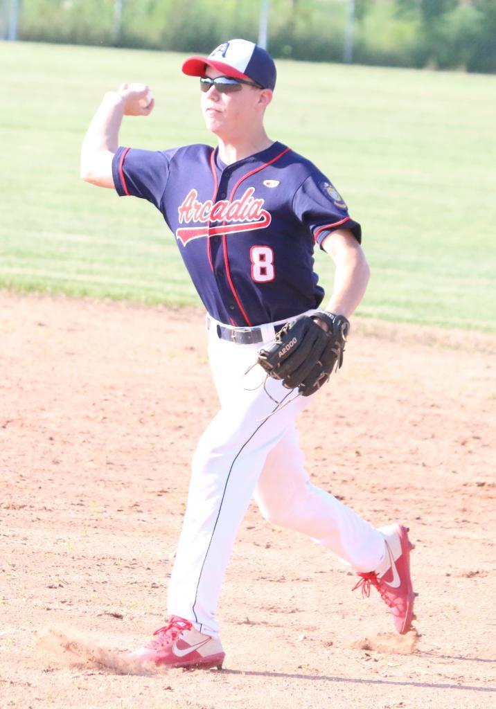 Arcadia's American Legion Post 17 baseball team lost three close games and won one lopsided contest last week.