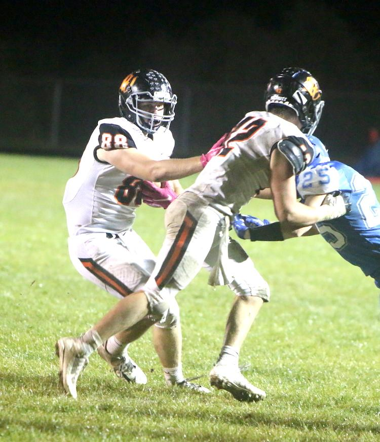When the fourth quarter rollercoaster ended, the Whitehall football team came out on top with a 22-14 win over Blair-Taylor.