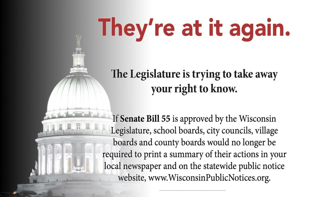 The Wisconsin State Senate has fast-tracked a bill that would irreparably harm government transparency.
